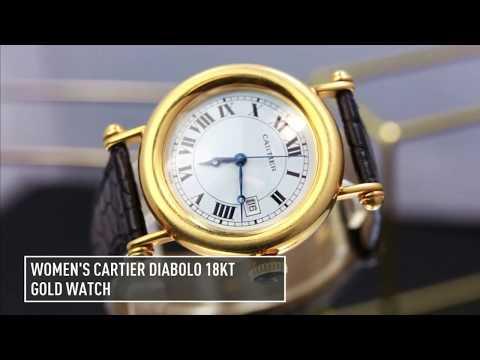 Women's Cartier Diabolo 18kt Gold Watch