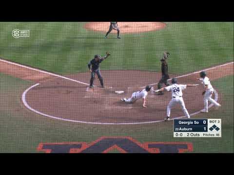 Auburn University Sports - Auburn Baseball vs Georgia Southern Game 2 Highlights
