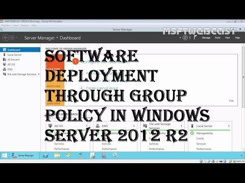 12. Software Deployment through group policy in Windows Server 2012 R2 (70-410)