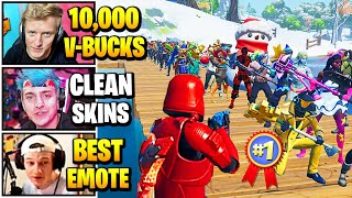 Streamers Host 10,000 V-BUCKS Skin Contest | Fortnite Daily Funny Moments Ep.504