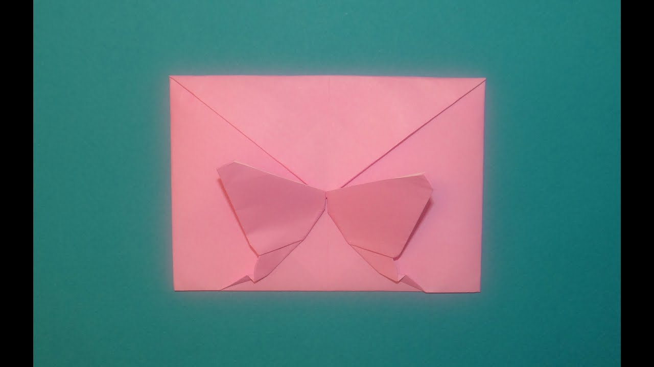 Download How To Make A Decorative Origami Butterfly Envelope ...