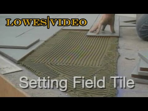 How To Lay Floor Tiles Carefully Set The Tiles Into The Adhesive