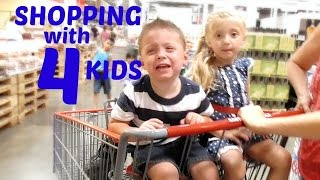 Shopping With 4 Kids.. UNCENSORED! | VEDA DAY 2