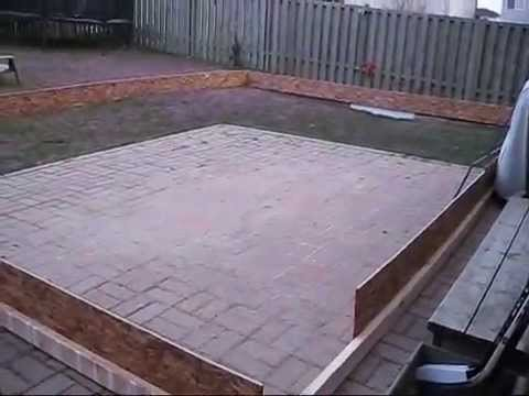 how to build a backyard ice rink 2010 youtube