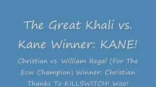 WWE Breaking Point 2009 (PPV)  Winner Results!
