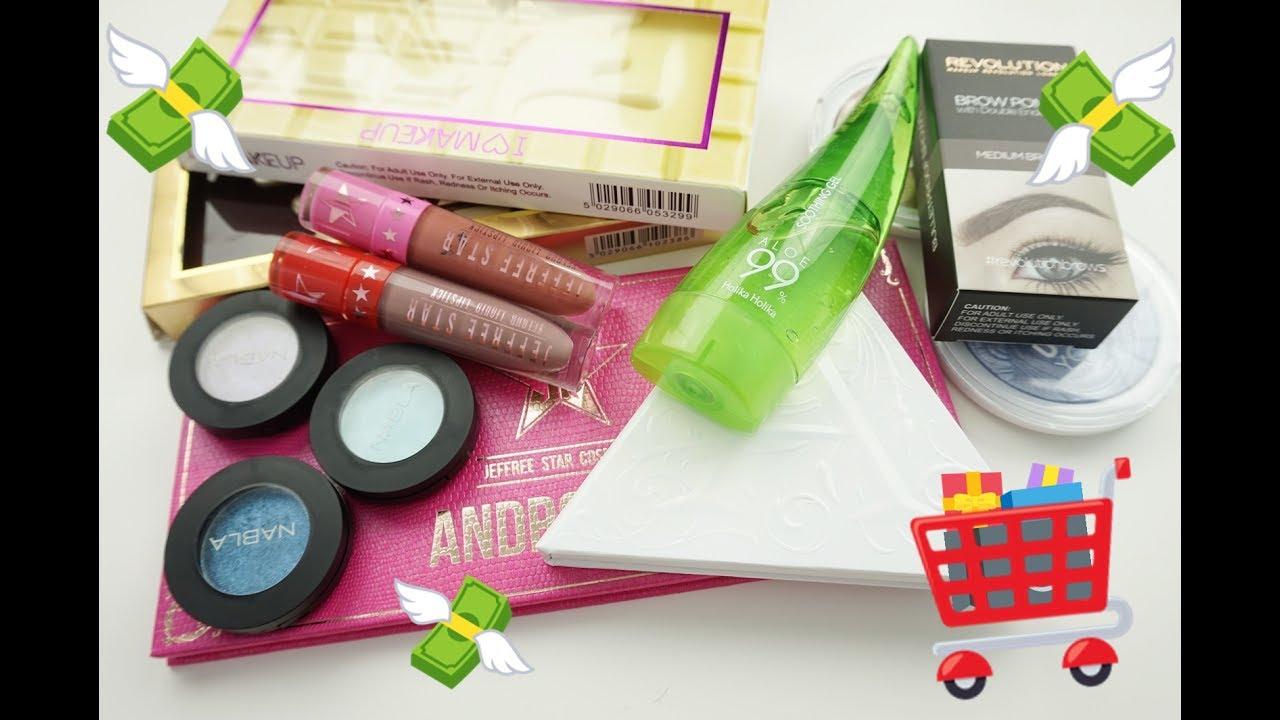 Zakupy kosmetyczne Kat von D, Jeffree Star, MUA, MUR, Holika Holika, Nabla FREEDOMINANTION