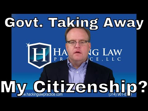 Can The Government Take Away My Citizenship?
