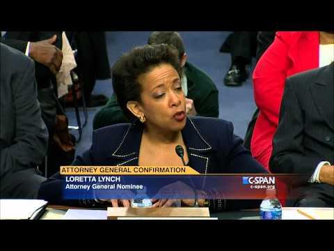 Opening Statement from Attorney General Nominee Loretta Lynch (C-SPAN)
