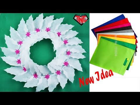Waste Material Wall Hanging With Shopping Bags | Best out of Waste Carry Bag