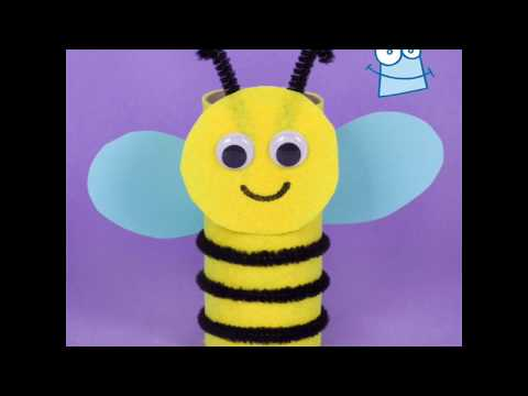 How to make a Bumble Bee Pal | Cardboard Tube Crafts