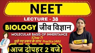 CLASS 12TH | NEET Preparation 2021 || By Radhika Ma'am | 38 | Molecular Basis of inheritance