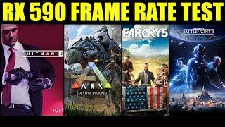 RX 590: Hitman 2 - Ark Survival - Far Cry 5 - Star Wars Battlefront 2   1080p   FRAME-RATE TEST