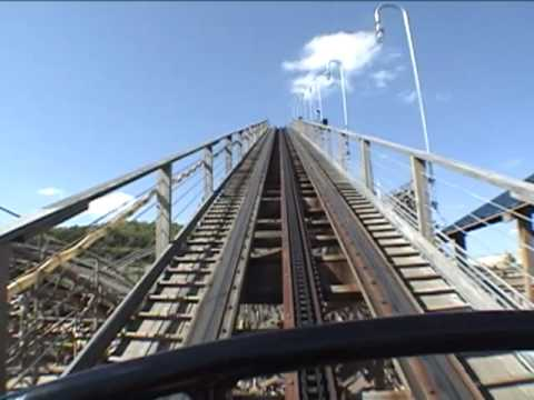 Ozark Wildcat Wooden Roller Coaster Front Seat POV - Celebration City