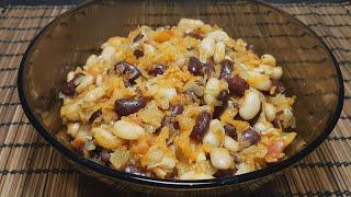 Салат с фасолью/Холодная закуска/Постное блюдо