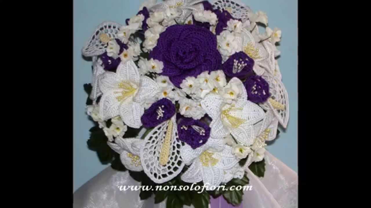 Bouquet Sposa Uncinetto Tutorial.Bouquet Sposa All Uncinetto Coroncine Porta Fedi E Non Solo Youtube