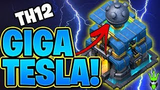 TESTING OUT THE *NEW* GIGA TESLA - TH12 ATTACKS BACK! NEW CLASH OF CLANS DEFENSE!