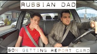 What Russian Dad Say When Son Gets Report Card