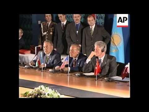 TURKEY: OSCE SUMMIT: OIL PIPELINE