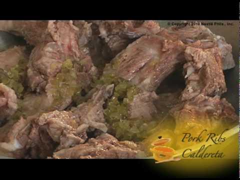 how to cook pork caldereta video