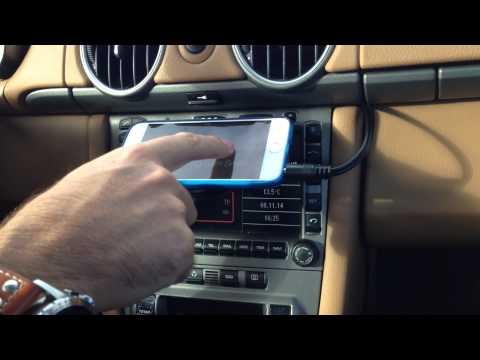 Porsche PCM 2.1 iPhone interface (FM Modulator) on Porsche Cayman