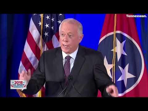 Fiery moments between Phil Bredesen and Marsha Blackburn at the U.S. Senate debate in Tennessee