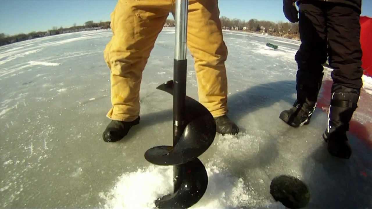 Ice fishing lake mendota wi youtube for Lake mendota fishing report