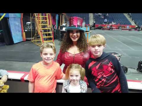 Kids with Kristen Wilson!  Ringling Bros first woman Ring Master!!