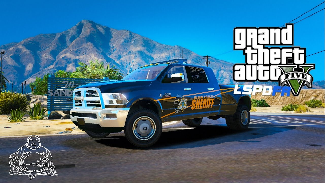 "2017 Dodge 3500 >> GTA 5 LSPDFR LIVE ""RAM JAM!"" DODGE RAM 3500 Dually SHERIFF PATROL POLICE MODS - YouTube"
