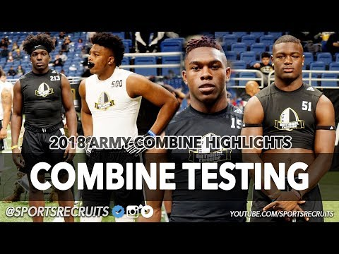 💪🇺🇸 2018 Army National Combine Testing Highlights - @SportsRecruits Official Mixtape