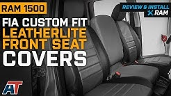 2009-2018 Ram Fia Custom Fit Gray Leatherlite Front Seat Covers Review & Install