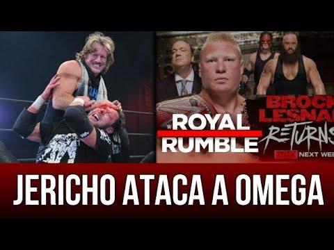 WWE NOTICIAS || CHRIS JERICHO ataca a KENNY OMEGA ¿BROCK LESNAR regresa para anunciar su oponente?