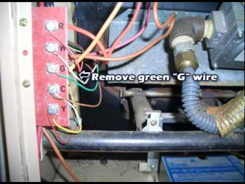 C Wire How To Use The G Wire As A C Wire Youtube