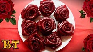 Как сделать розы из фруктовой пастилы