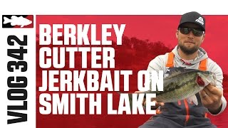 Fishing the Berkley Cutter Jerkbait on Smith Lake with Justin Lucas – VLOG #342