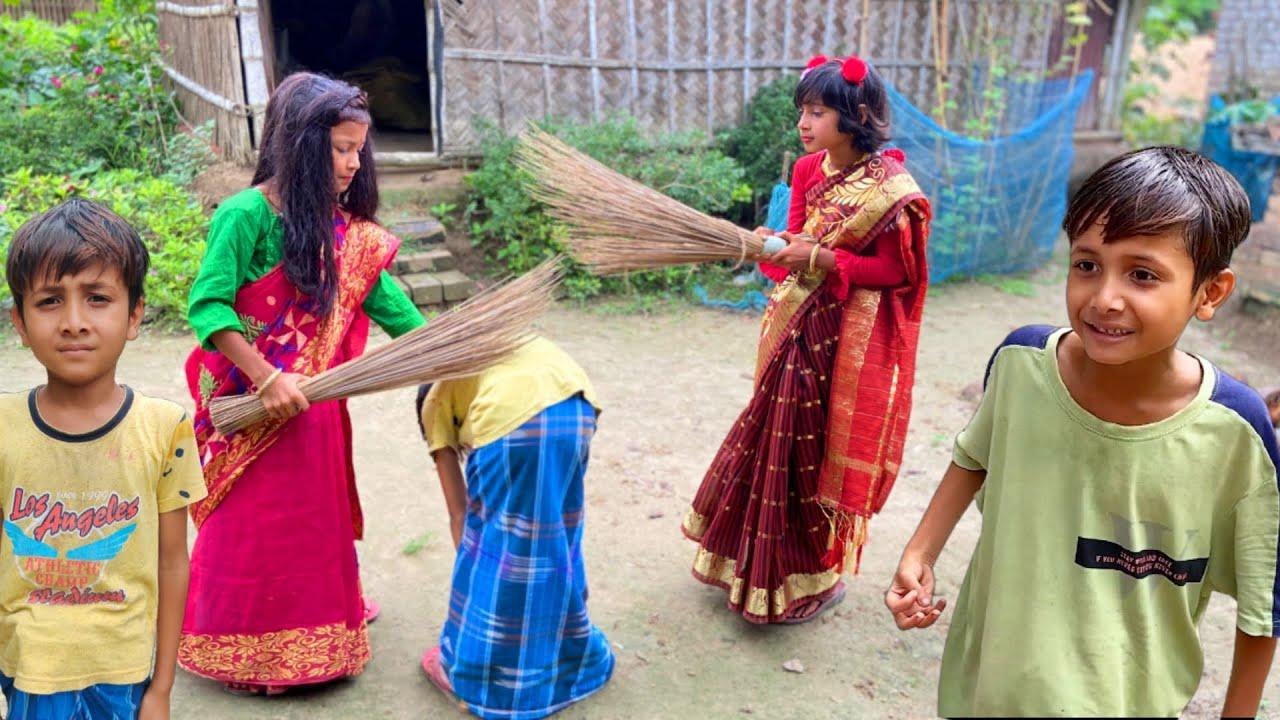 দুই সতীনের সংসার । ছোটদের বাংলা ফানি নাটক । bangla natok 2021