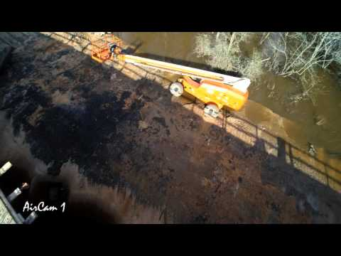 Aircam 1 Over Yellow River Construction Site Flooding