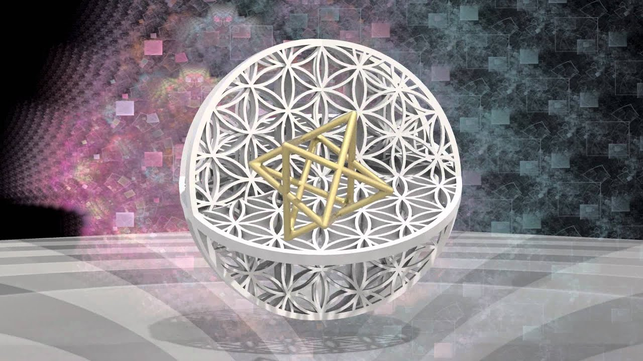 3d Cube Wallpaper Merkaba And Flower Of Life Animated Youtube