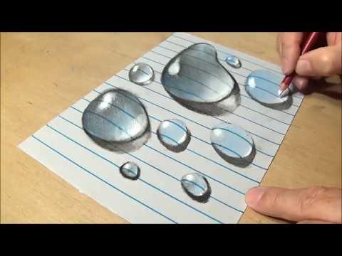 Капли воды ... 3D