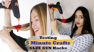 Testing out Viral GLUE GUN Hacks by 5 Minute Crafts | Mishra Twins