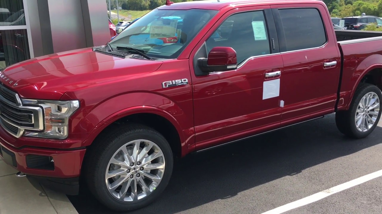My 2018 ford f 150 limited arrived red with blue interior