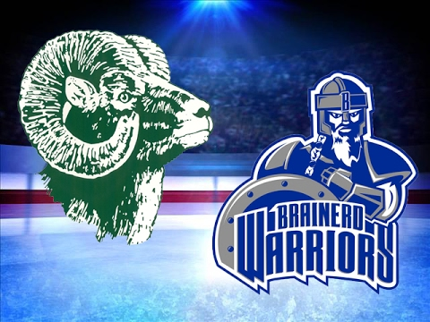 Roseau And Brainerd/Little Falls Girls Hockey Face Off At Section 8AA Championship