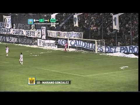 Gol de González. Independiente RM 1 - Santamarina 2. Fecha 16. Torneo Primera B Nacional 2014. FPT