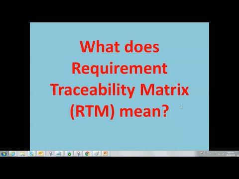 Requirements Traceability Matrix | RTM | traceability matrix