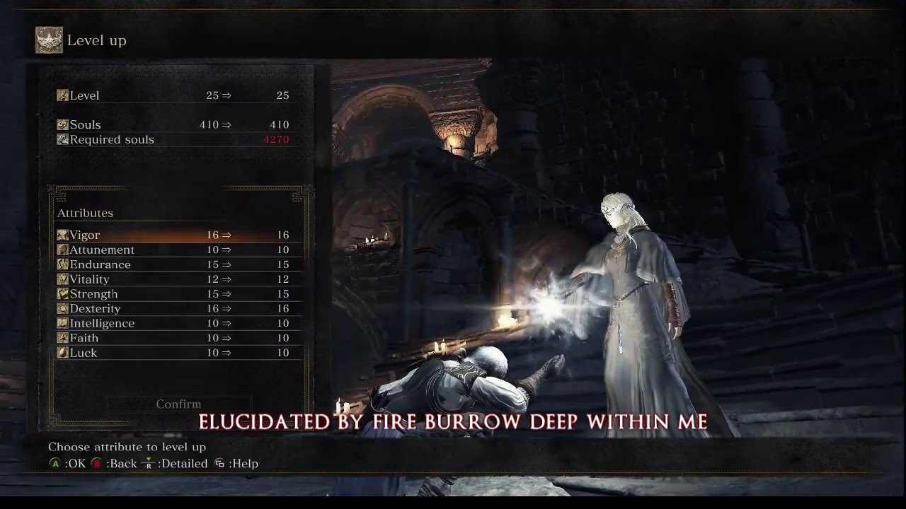 How to level up in dark souls 3