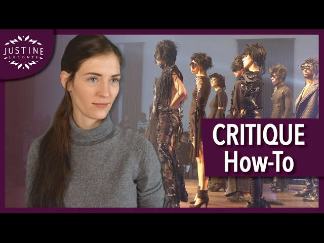 How To Review Critique A Fashion Show Justine Leconte Youtube