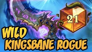 TOP 21 LEGENG | Wild Kingsbane Rogue | The Boomsday Project | Hearthstone