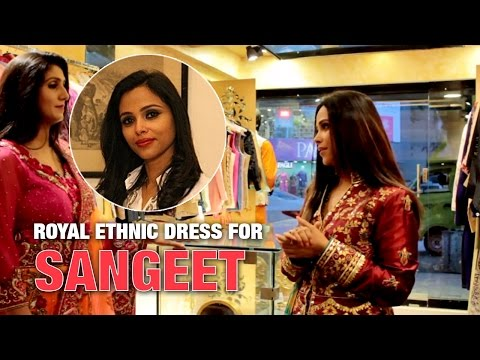 Royal Ethnic Dress For Sangeet | The Ethnic Attire