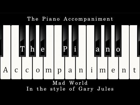 Gary Jules - Mad World (Piano Karaoke)