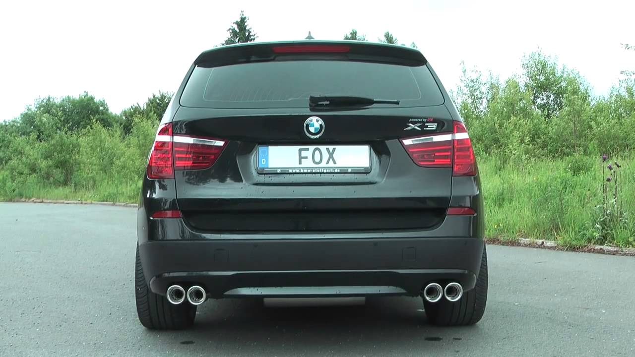 bmw x3 f25 diesel fox sportauspuff exhaust by fiese performance youtube. Black Bedroom Furniture Sets. Home Design Ideas