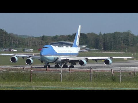 Air Force One Departs From Cornwall Airport Newquay